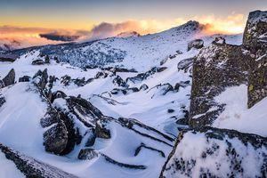 Winter Sunset at the Highest Australian Mountain