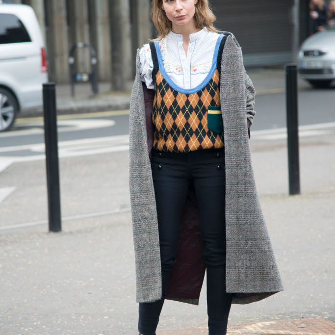 Street style jeans and a sweater