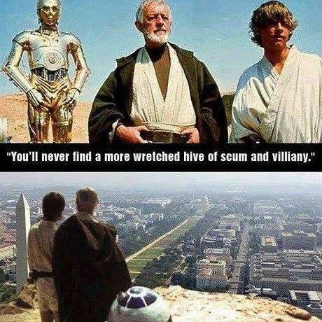 meme of DC as hive of scum and villainy