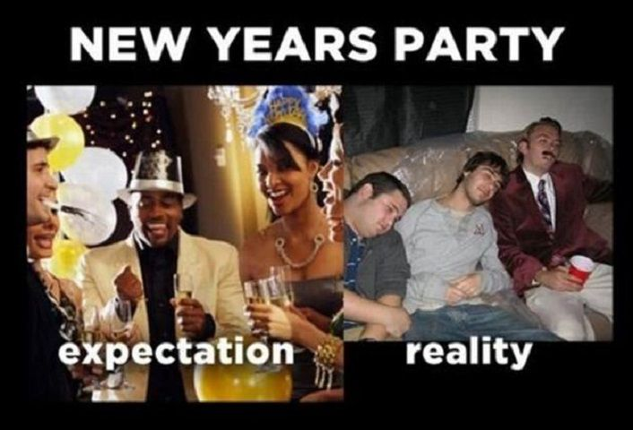 Expectations vs Reality: New Year's Eve
