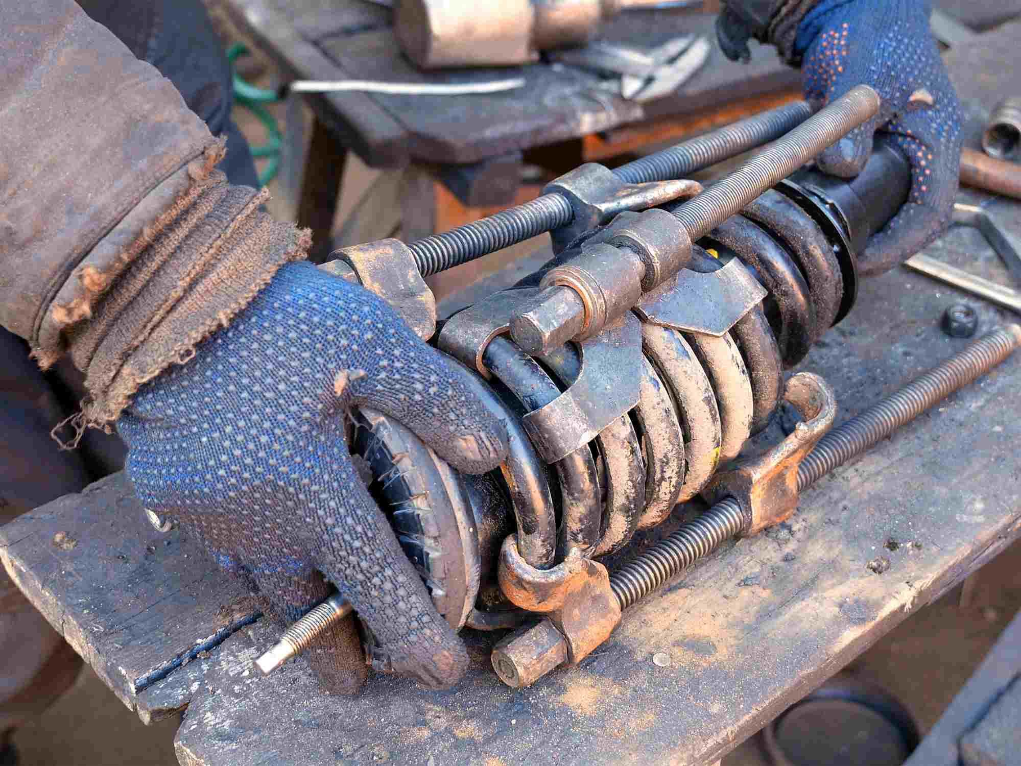 DIY coil-over spring compressor