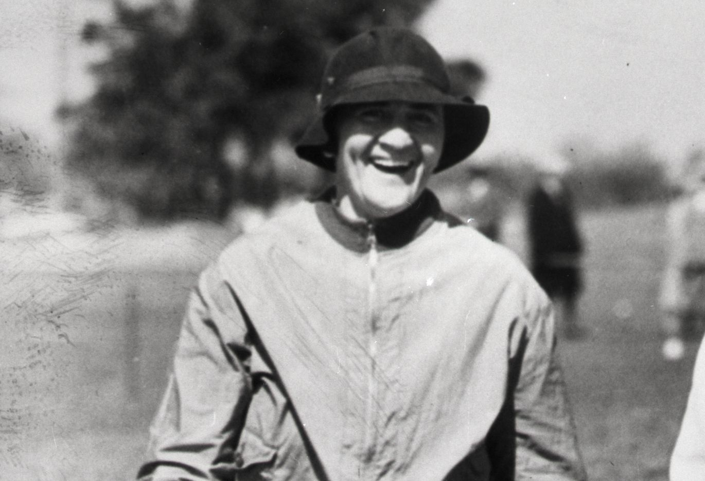 Golfer Opal Hill pictured in 1933 at Pinehurst