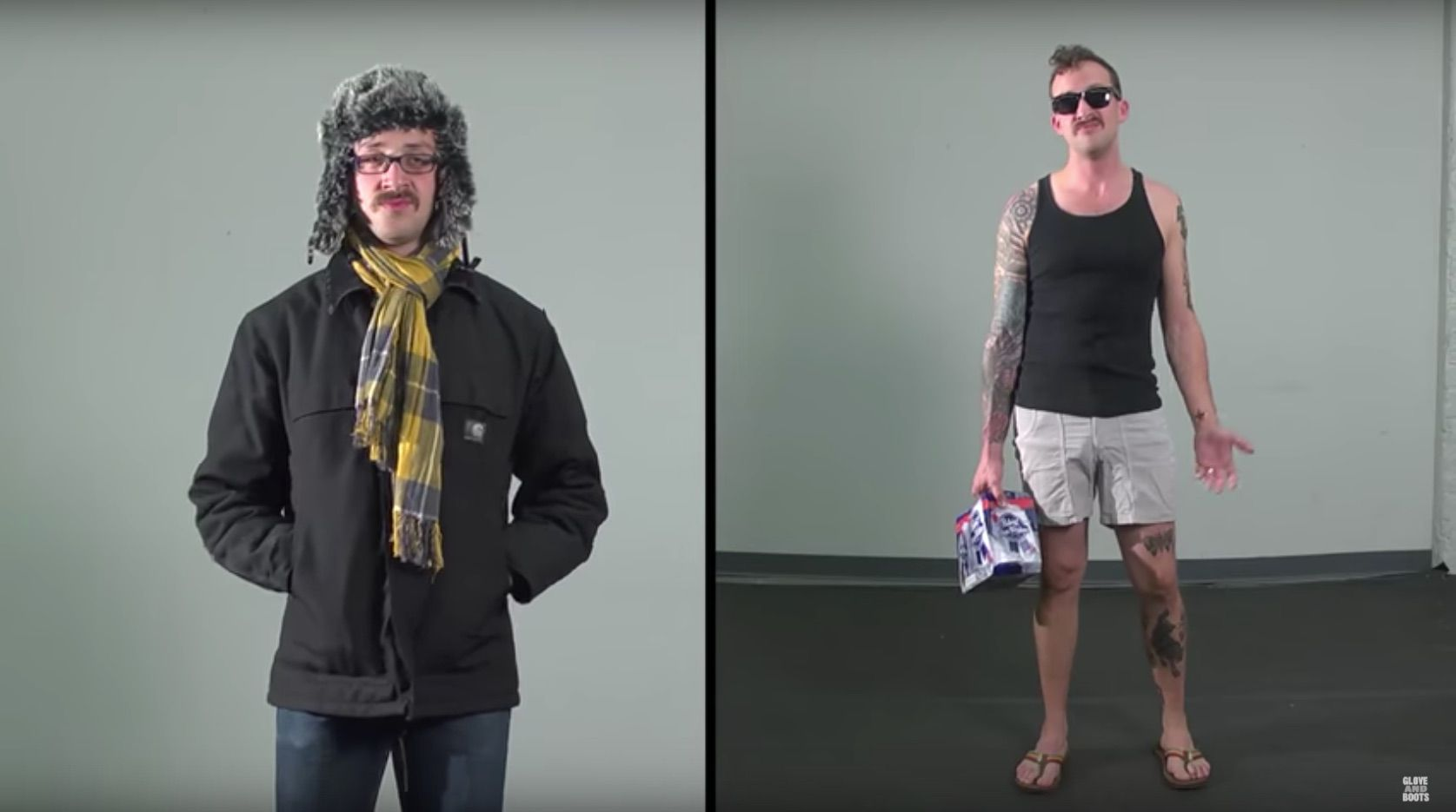 """Screenshot of YouTube video """"Evolution of the Hipster"""""""