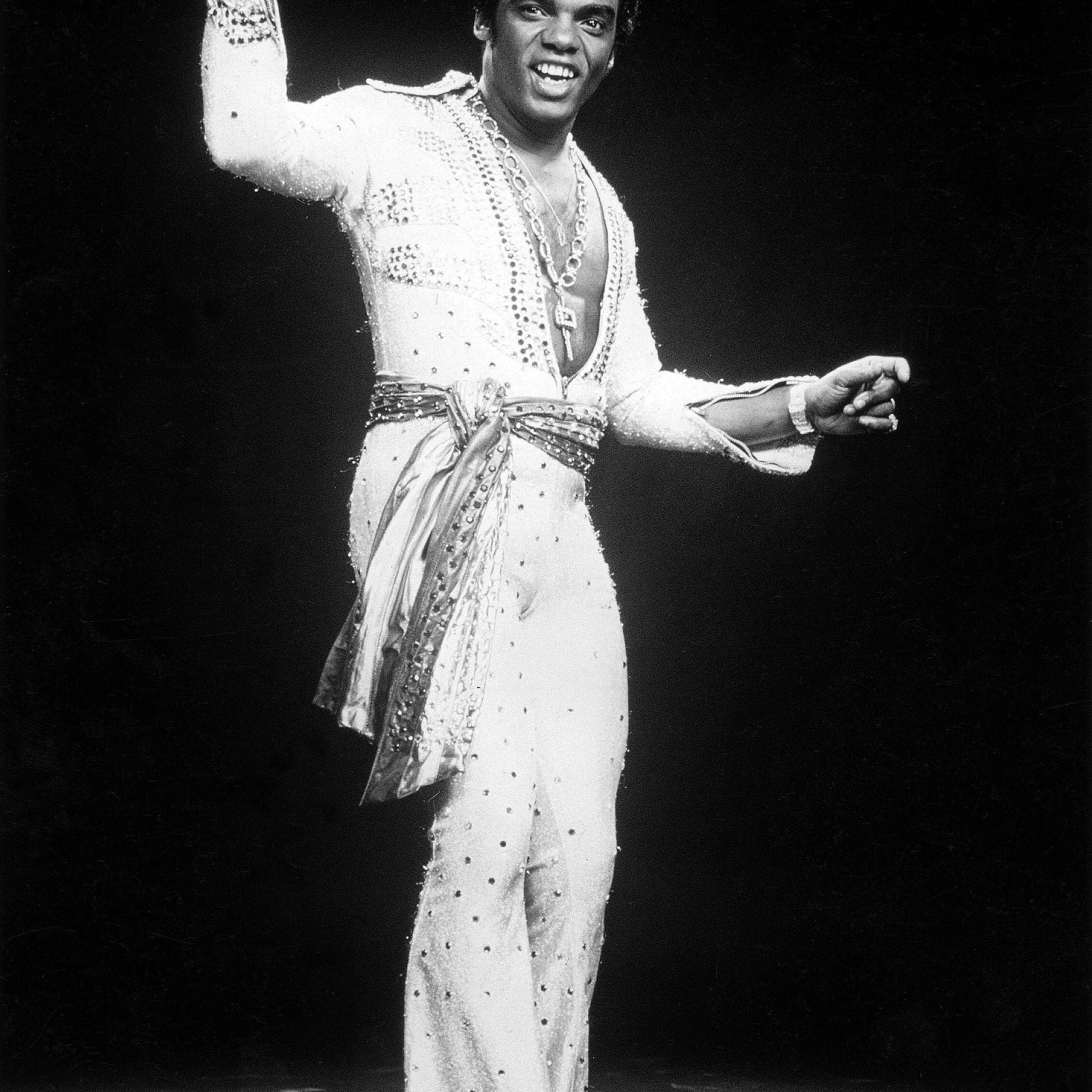 Portrait of Ronald Isley during a performance