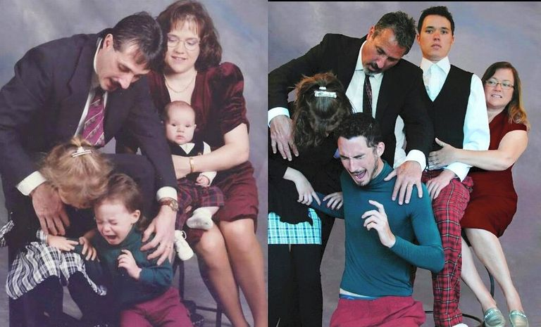 Awkward Family Photos recreated