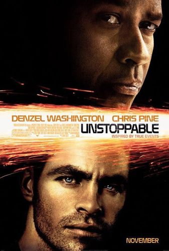 Unstoppable movie poster starring Denzel Washington and Chris Pine