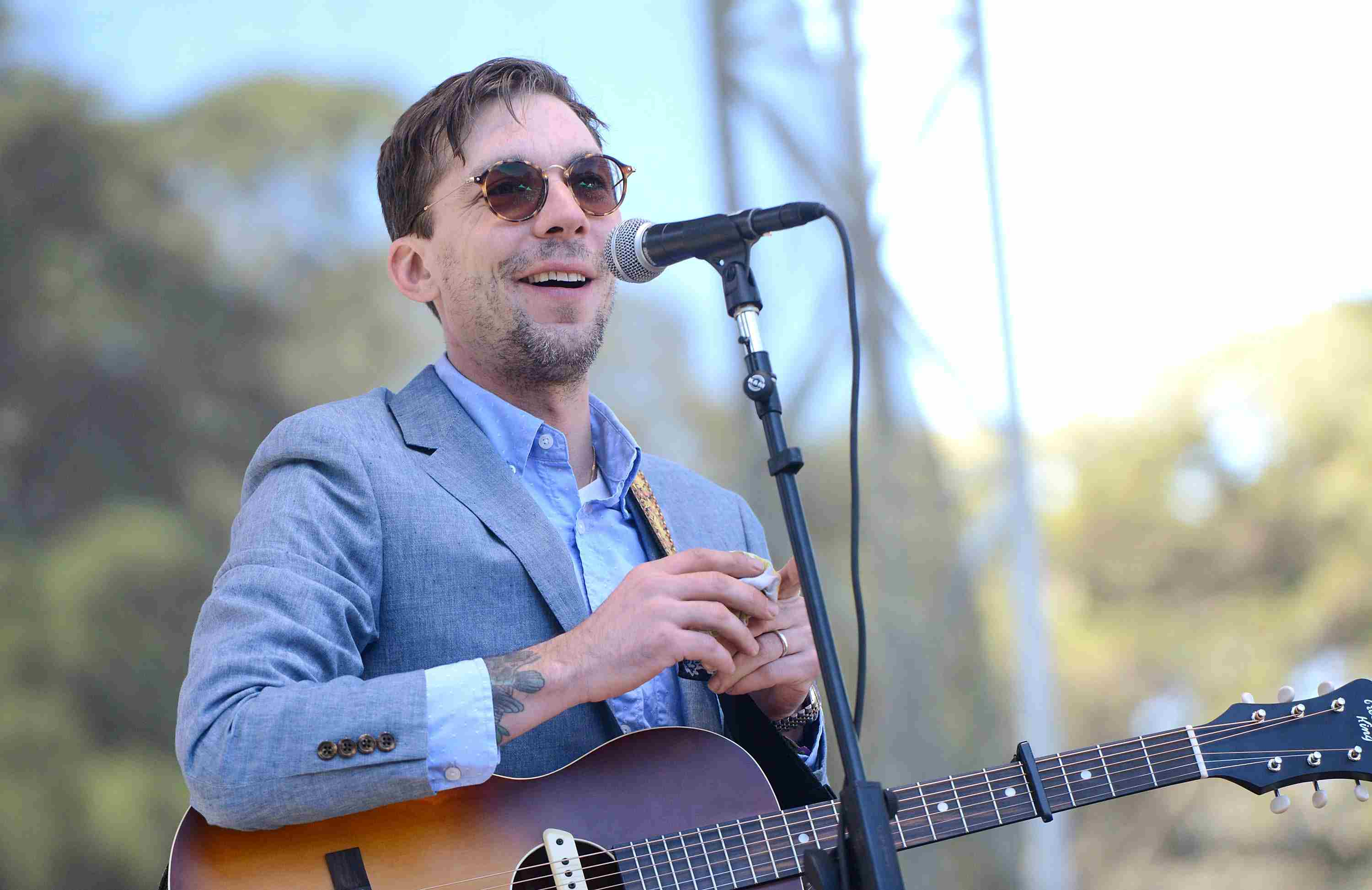 Justin Townes Earle at an outdoor concert