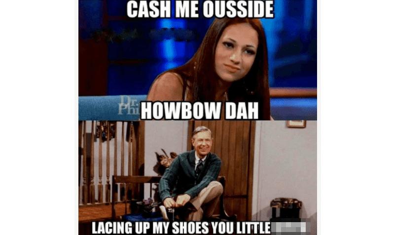 Mr. Rodgers 'cash me ousside' meme
