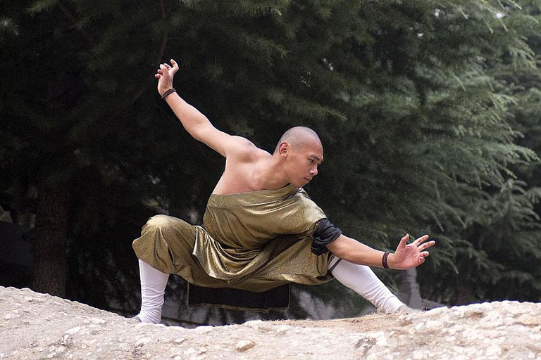 Chinese Buddhist Kung Fu Expert in Shaolin Temple China.