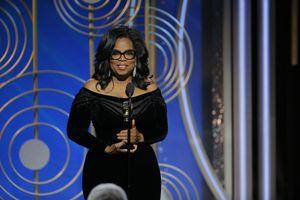 Oprah Winfrey at the 75th annual Golden Globe Awards