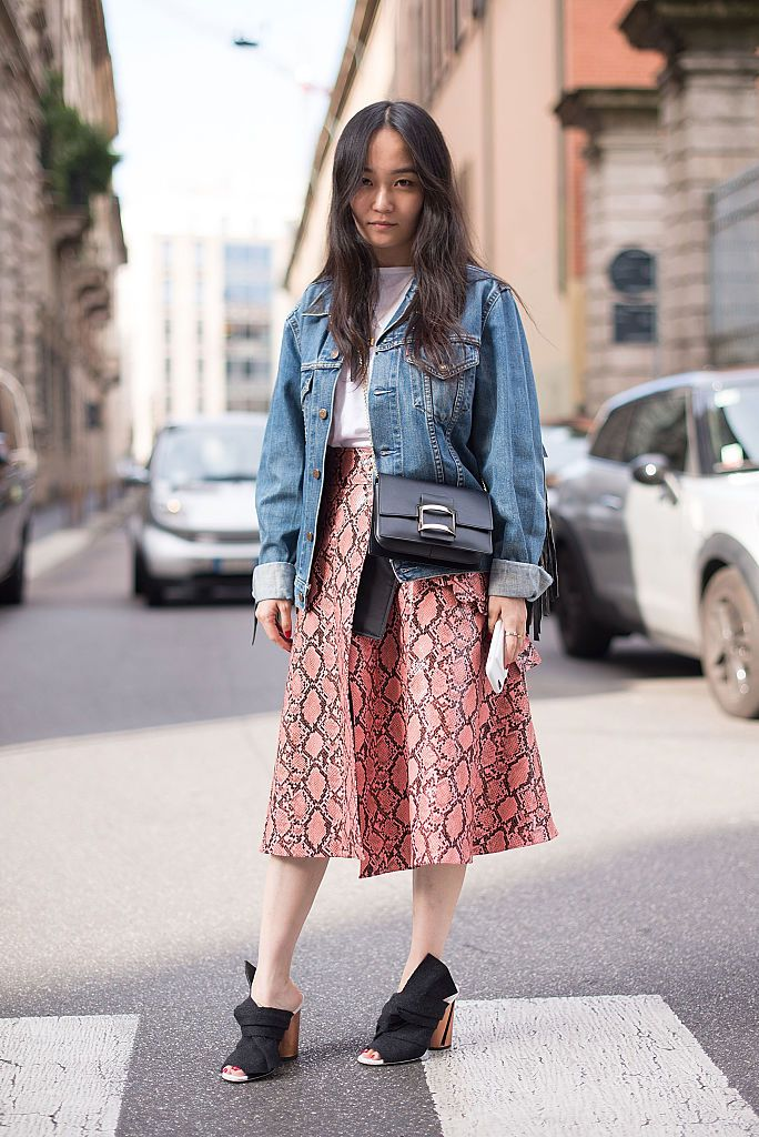 b2a81f391f Spring Fashion - How to Wear a Denim Jacket and Skirt