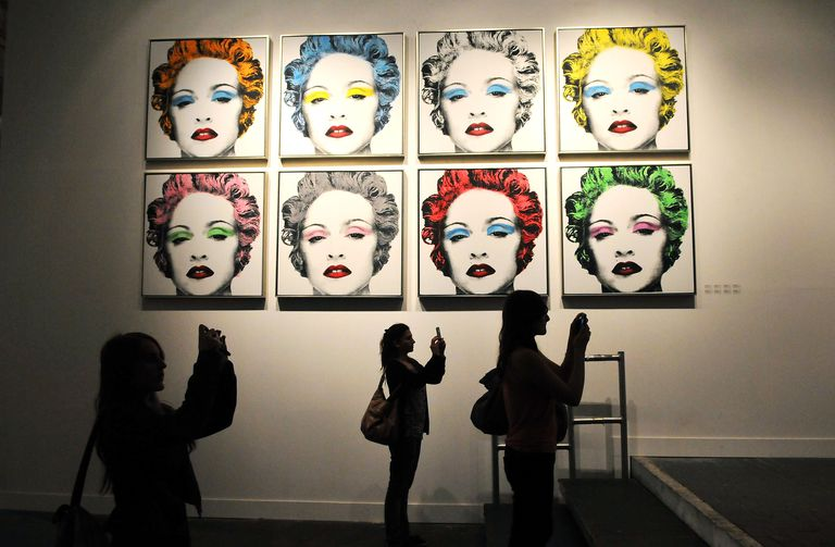 An artwork featuring Madonna by controversial Los Angeles-based French pop artist