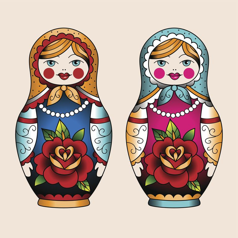 8d561826d1b6 Russian Doll Matryoshka Tattoo Ideas