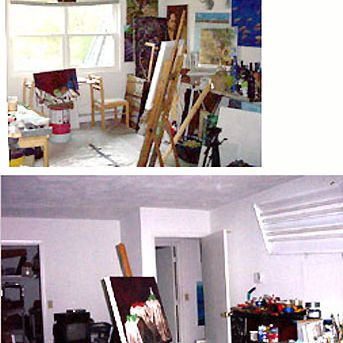 Photo Gallery of Artists Studios and Painting Spaces