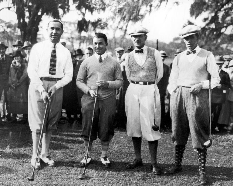 Walter Hagen, Gene Sarazen, Abe Mitchell, George Duncan