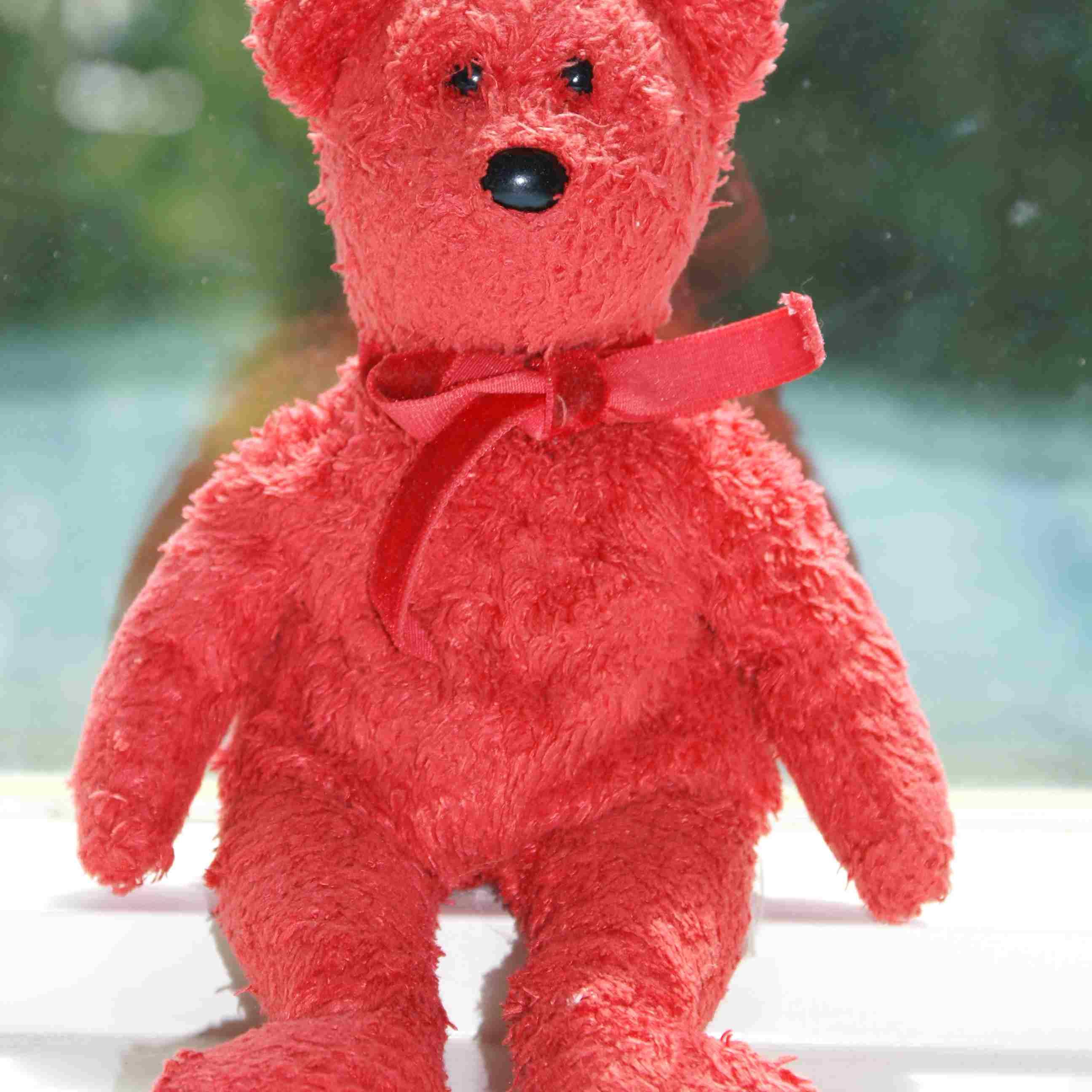 Red Beanie Baby bear
