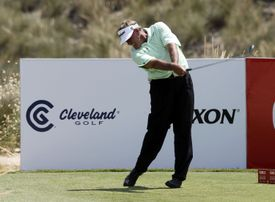 Bobby Lincoln of South Africa in action during the final round of the OKI Open de Espana Senior Tournament.