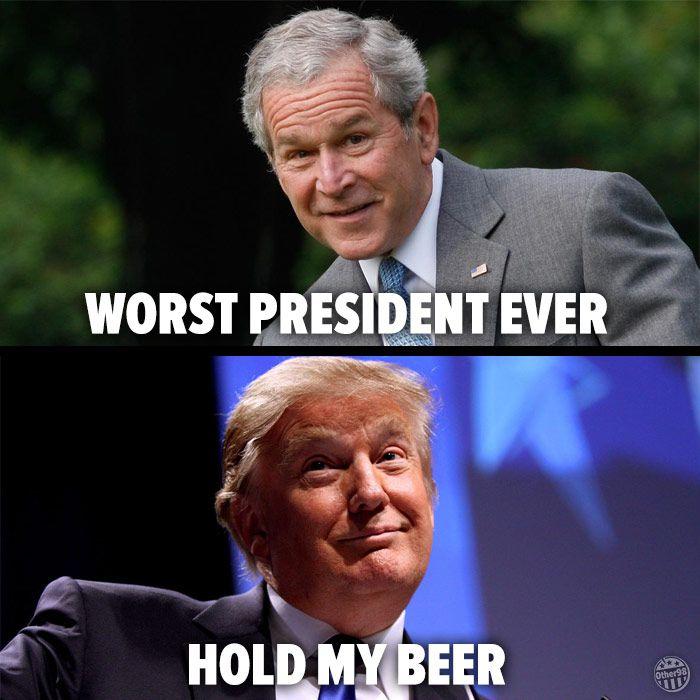 Hold my beer - trump meme