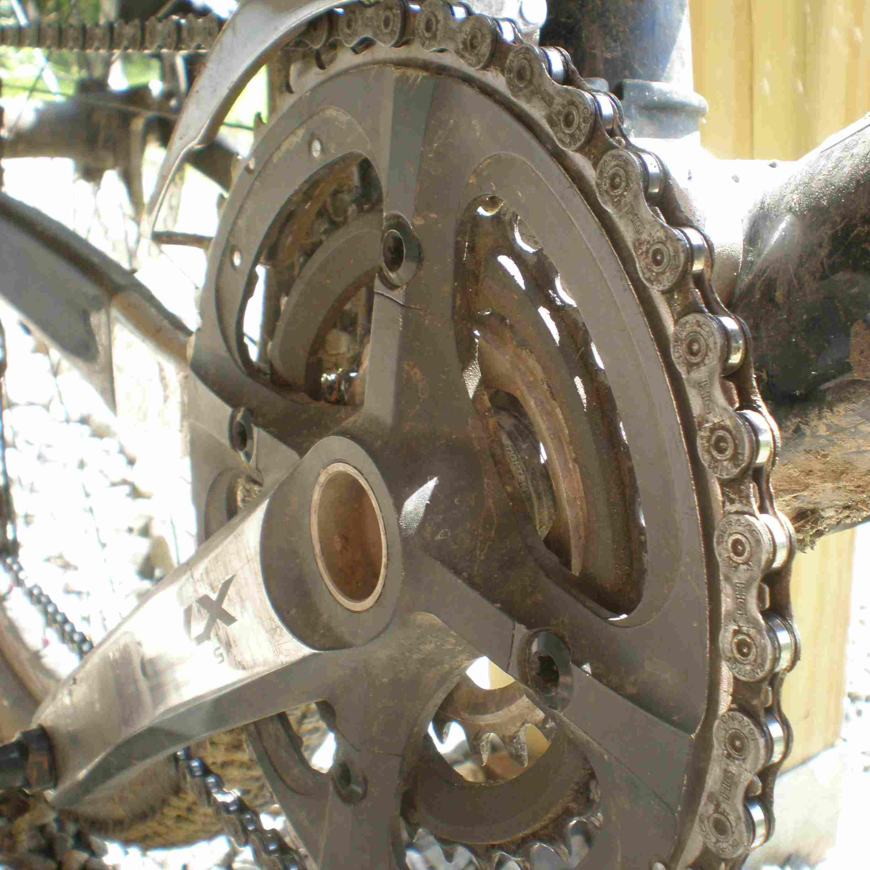 Close up of bike sprocket