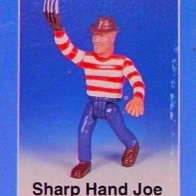knock off action figure of Freddy Krueger called Sharp Hand Joe