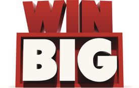 Blocks spelling 'Win Big' illustrating About.com's Big Sweepstakes List.