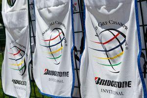 Caddie bibs for the PGA Tour's WGC Bridgestone Invitational tournament