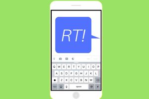 An image graphic of a text message that says