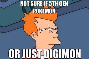 Fry Futurama Digimon Meme
