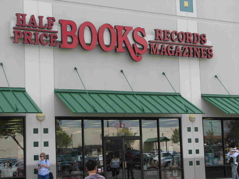 A Half Price Books storefront.