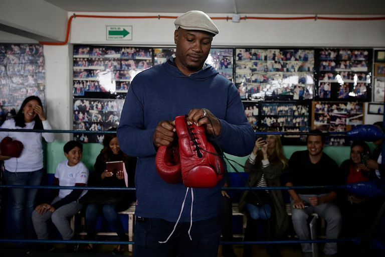 Lennox Lewis on a Laureus Sport for Good Mexico Project Visit