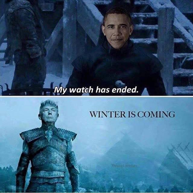 Winter is coming - Trump meme