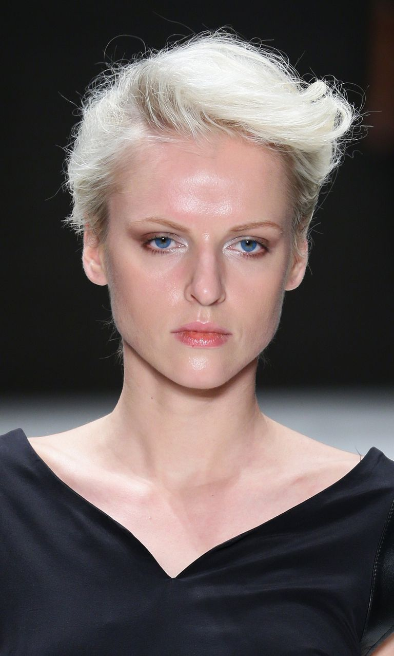 short hair on the runway