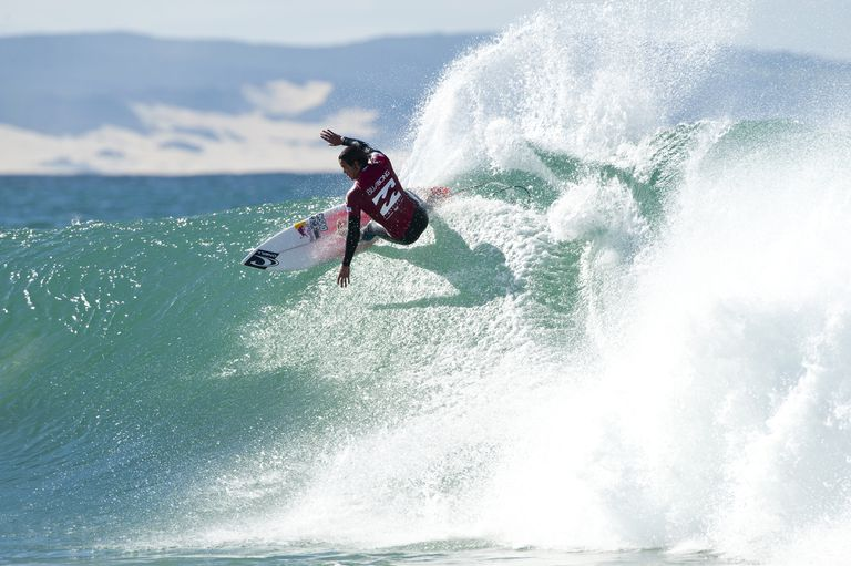 Pro Surfer Jordy Smith in competition