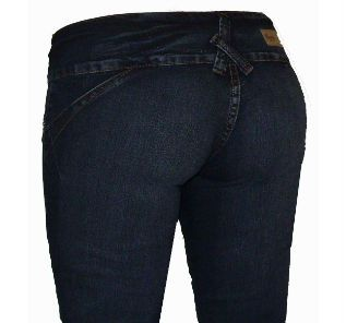 Jeans with no back pockets