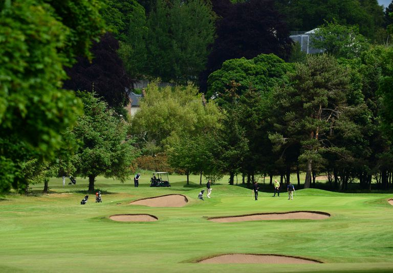 golf course scene in Musselburgh, Scotland