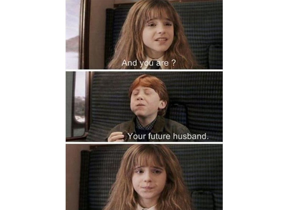 Harry potter Hermione and Ron meme
