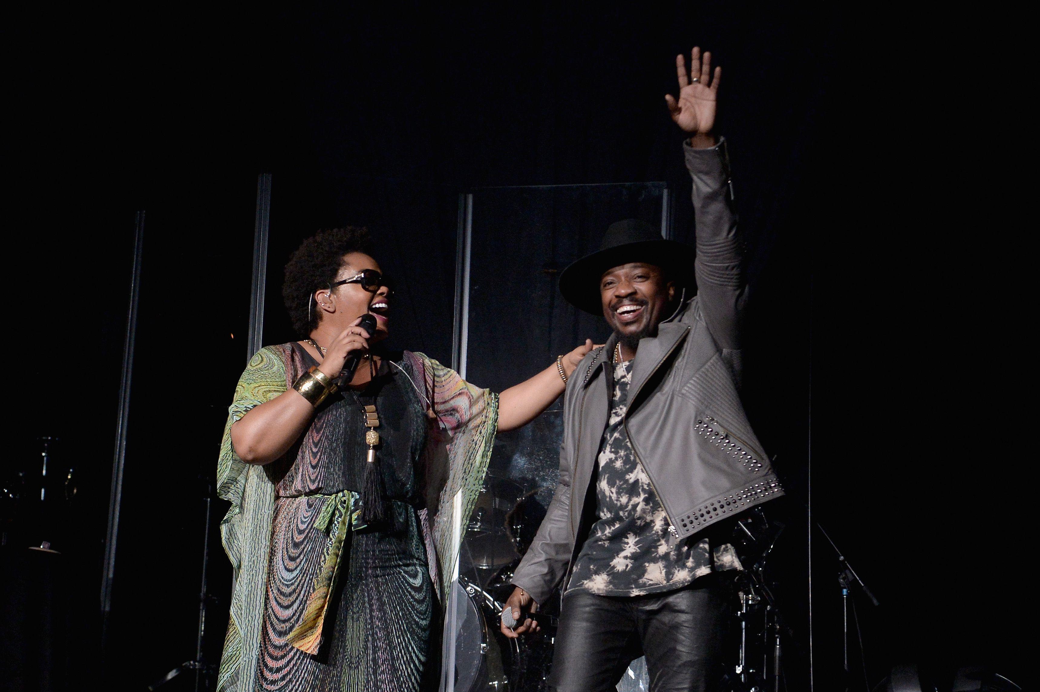 Jill Scott and Anthony Hamilton onstage
