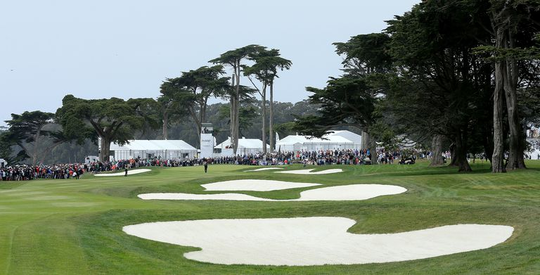 The 18th hole at TPC Harding Park in San Francisco