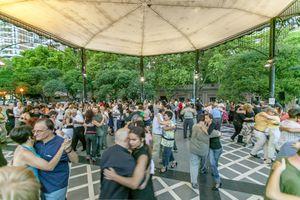 Milonga in San-Telmo district, tango dancers, Buenos Aires, Argentina, South America