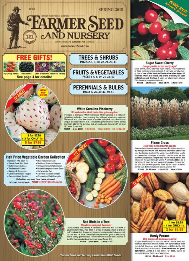 The Spring 2018 Farmer Seed and Nursery catalog