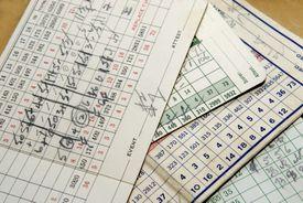 old golf scorecards