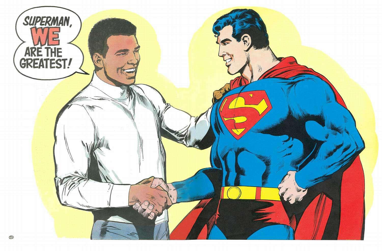 Comic panel from Superman vs. Muhammad Ali (1978)