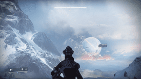 A Guardian looks out over an expansive landscape in Destiny 2