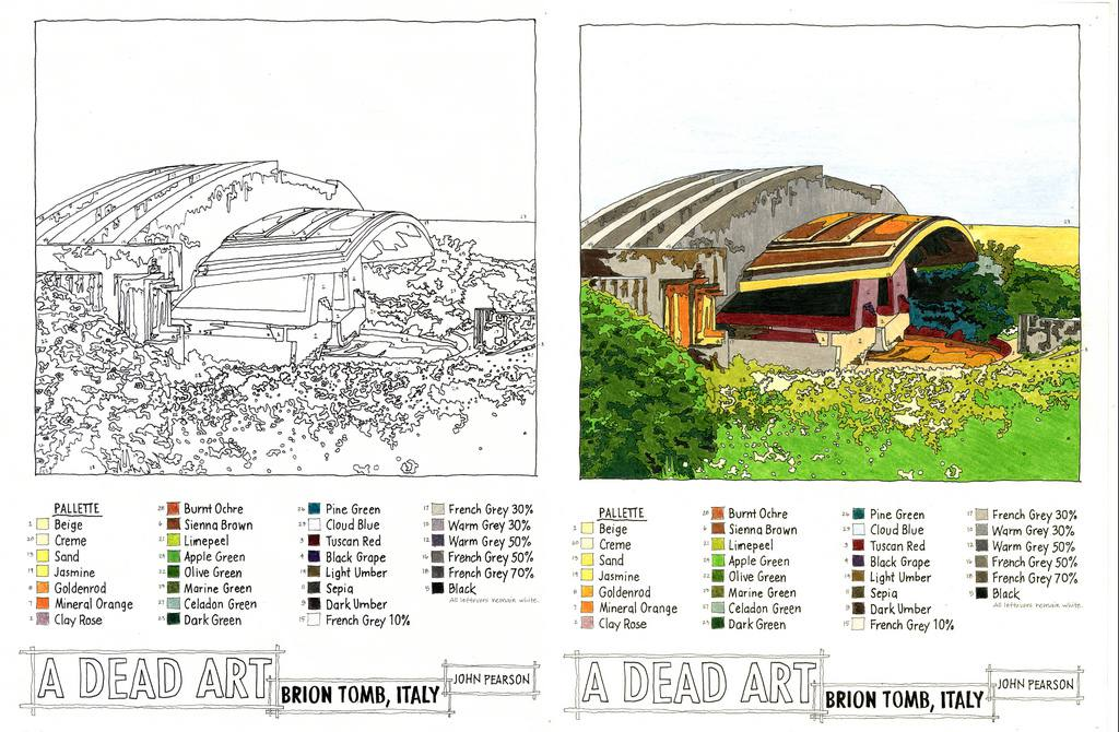 Before and fater a paint by numbers picture