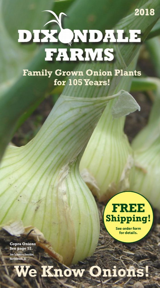 The 2018 Dixondale Farms seed catalog