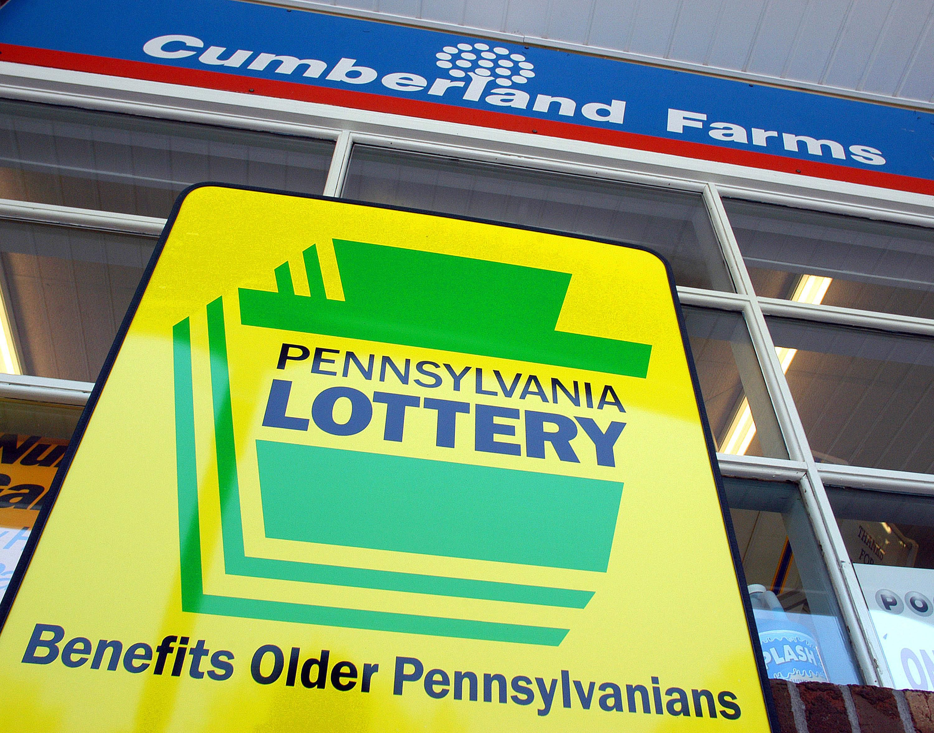 Picture of a Pennsylvania Lottery sign.