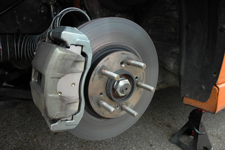 new brake pads and new brake calipers