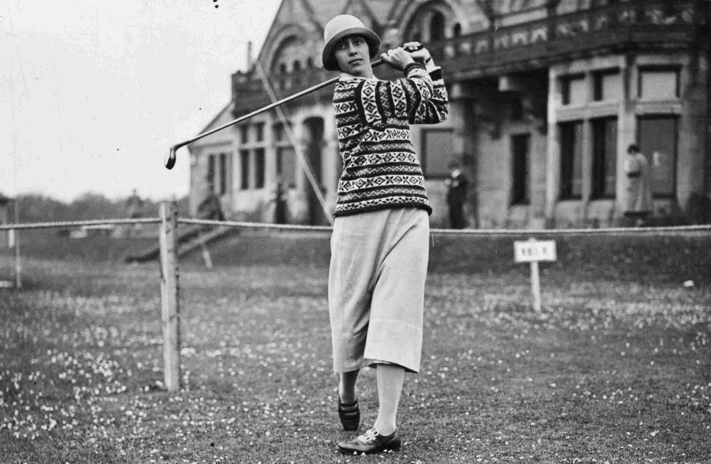 Golfer Glenna Collett Vare pictured in 1925.