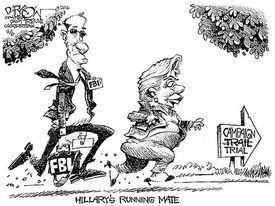 Hillary FBI Runnign Mate Cartoon