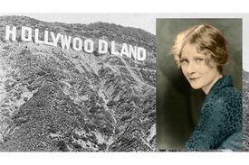Hollywoodland sign and Peg Entwistle